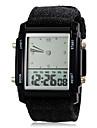 남성 시계 디지털 스포츠 시계 LCD / 달력 / 크로노그래프 / 듀얼 타임 존 / 경보 섬유 밴드 손목 시계