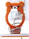 κάτοχος σχήματος πλαστικό κελί τέλος τηλέφωνο μικρό αρκουδάκι (τυχαία χρώμα) x 1 τεμ