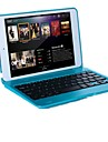 For Case Cover with Stand with Keyboard Flip Full Body Case Solid Color Hard PC for iPad Mini 3/2/1