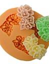 tres flores de buraco em forma molde do bolo fondant assar, l6cm * w5.3m * h1.5cm