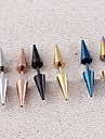 Lureme®316L Surgical Titanium Steel Double Cone Single Stud Earrings (Random Color)