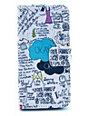 """""""OKAY"""" Words Scrawl Pattern PU Leather Full Body Case for iPhone 5/5S"""