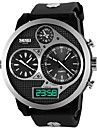 SKMEI Masculino Relógio Militar Relógio de Pulso Relogio digital Quartzo Digital Quartzo Japonês LED Impermeável Três Fusos Horários