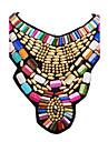 Femme Bijoux Mode Colore Fete / Celebration Colliers Declaration Colliers plastrons Resine Alliage Colliers Declaration Colliers plastrons