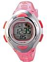 Infantil Relógio Esportivo Relogio digital Digital LCD Calendário Cronógrafo Impermeável alarme Borracha Banda Rosa Rosa claro