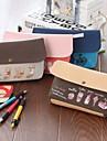 мультфильм милые большой емкости холст канцелярские сумки (Random Color x1PCS)