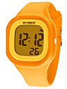 Femme Quartz Numerique Montre numerique Montre Bracelet Montre Decontractee Silikon Bande Montre Habillee Mode Cool Orange