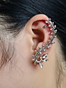 Femme Poignets oreille Luxe Strass Imitation Diamant Alliage Forme de Feuille Bijoux Mariage Soirée Quotidien Décontracté Sports Bijoux