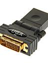 Женский HDMI для DVI24 + 5 мужчин адаптер