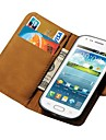 Genuine Leather Wallet Stand Case for Samsung Galaxy Trend Duos S7562