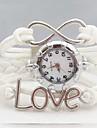 moda carta de amor infinito tecer couro banda quartzo pulseira de relógio analógico das mulheres (cores sortidas)