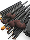 32pcs Makeup Brushes set Horse/Pony/Goat Hair Professional Black Foundation/Blush brush Shadow/Eyeliner/Lip/Brow/Lashes Brush With Free Case