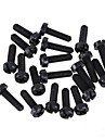 ZnDiy-BRY R203-310 M3 x 10 Nylon Plastic Hexa Pillar Spacer Supporter - Black (20 PCS)