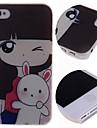 Cartoon Girl Rabbit Pattern Hard Case for iPhone 4/4S