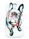 Glasses Dog Pattern Thin Hard Case Cover for Samsung Galaxy S4 Mini I9190