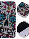 Cartoon Flowers Cool Skulls Pattern Hard Case for iPhone 4/4S