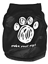 Cat Dog Shirt / T-Shirt Dog Clothes Cartoon Black Terylene Costume For Pets