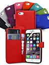 Wallet Card Holder PU Leather Case for iPhone 6 Plus (Assorted Colors)