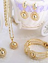 Jewelry Set Wedding Party Daily Alloy Rings Earrings Necklaces Bracelets & Bangles