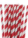 27 couleurs respectueux de l\'environnement pailles en papier pailles a boire rayees papier pour Halloween fete de noel potable (25 pieces)