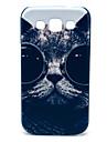 O gato com vidros Padrão Hard Case para Samsung Galaxy I8552 Vitória
