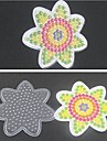 1PCS Template Clear Pegboard Flower for 5mm Hama Beads Fuse Beads