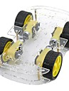 DIY Dual Layer 4xMotor Smart Car Chassis with Speed Measuring Coded Disc