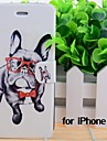 Cartoon Glasses Dogs Pattern Leather Full Body Cases with Stand and Slot for iPhone 6