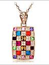 Kadın\'s Kristal Uçlu Kolyeler - Avusturya Kristali Bayan Ekran Rengi Kolyeler Mücevher Uyumluluk