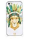 Pour Coque iPhone 5 Etuis coque Motif Coque Arrière Coque Animal Dur Polycarbonate pour iPhone SE/5s iPhone 5