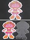 1pcs sjabloon duidelijke zekering kralen pennenbord meisje dochter patroon voor 5mm hama kralen diy puzzel