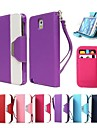 Leather Wallet Case Flip Leather Stand Cover with Card Holder for Samsung Galaxy Note 3