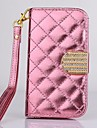 Luxury Diamond PU Leather Full Body Case with Stand for iPhone 4/4S(Assorted Colors)