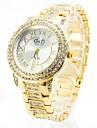 Жен. Нарядные часы Модные часы Кварцевый Имитация Алмазный сплав Группа Роскошь Блестящие Золотистый Розовое золото