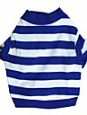 Cat Dog Shirt / T-Shirt Dog Clothes Stripe Blue Cotton Costume For Pets