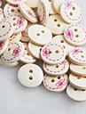 bowknot λεύκωμα μοτίβο scraft ράψιμο diy ξύλινα κουμπιά (10 τμχ)