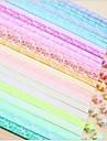 efecto fluorescente después de la iluminación i LVOE que materiales origami estrella patrón suerte (30 páginas / 1 color / paquete de color al azar)