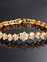 Beautiful 18 K Gold Plating Mosaic AAA Zircon Ms Gold Bracelet