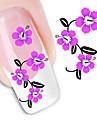 1 pcs Цветы / Мода Наклейка для переноса воды / 3D-стикеры для ногтей Повседневные