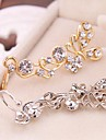 Ear Cuffs Alloy Rhinestone Simulated Diamond Silver Golden Jewelry Daily