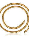U7® High Quality Men's Vintage 18K Chunky Gold Filled Necklace Chain for Men 6MM 22Inches 55CM