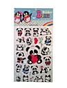панда пластиковые наклейки