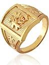 Кольцо перстень с позолотой и китайскими иероглифами