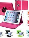 df cas cuir PU flip-ouvert corps entier durable avec rotation de 360 degrés pour iPad 2/3/4 (couleurs assorties)