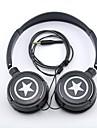 MP3 / 휴대폰 / PC 용 귀를 통해 spc06 별 로고 스테레오 헤드폰 3.5mm의 잭