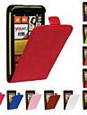 Flip-Open Horse Grain PU Leather Full Body Case for Nokia Lumia 625 (Assorted Colors)