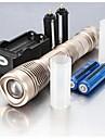 Lanternas LED / Lanternas de Mão LED 5 Modo 2400 Lumens Foco Ajustável / Prova-de-Água / Recarregável / Superfície Antiderrapante 18650.0