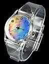 Женские Модные часы Кварцевый Pезина Группа Белый