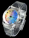 Women's Fantasy Sky Pattern Transparent Band Quartz Analog Wrist Watch Cool Watches Unique Watches