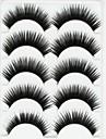 New 5 Pairs European Stlye Black Long Thick False Eyelashes Eyelash Eye Lashes for Eye Extensions